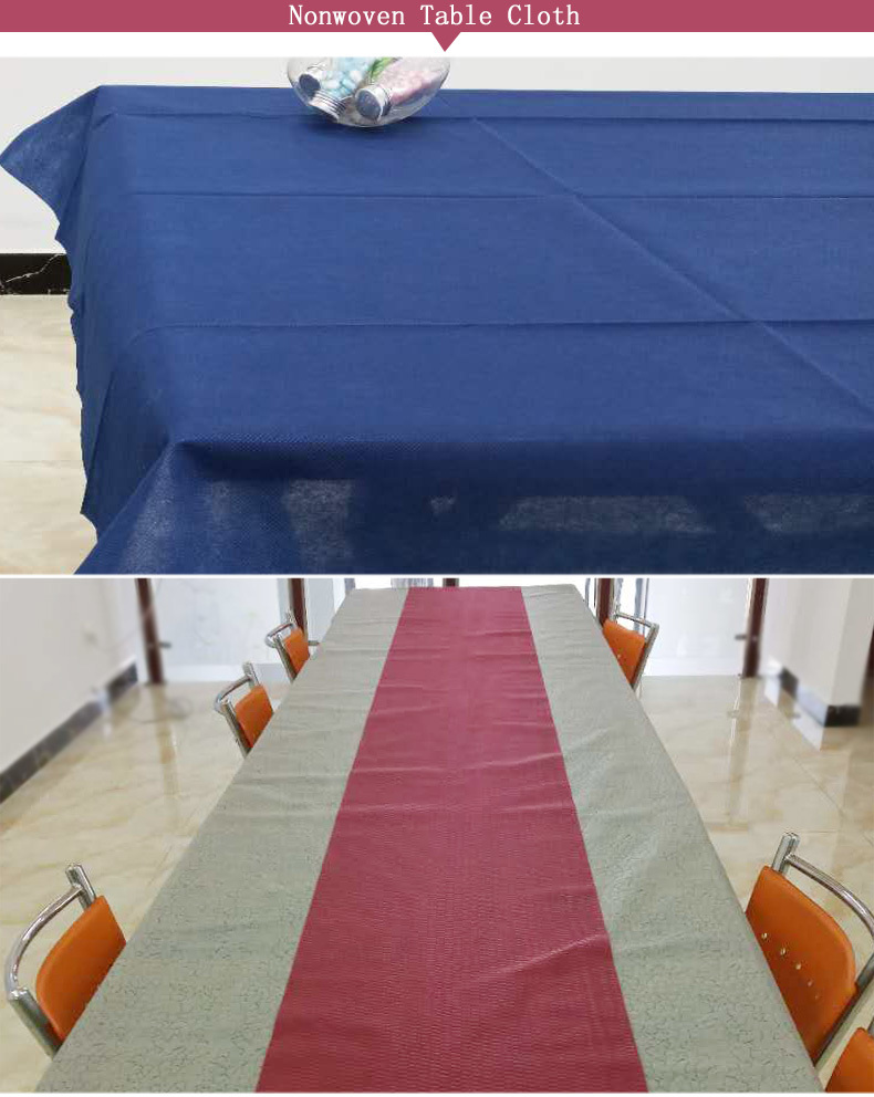 Custom wedding non woven tablecloth cloth non woven fabric for sale