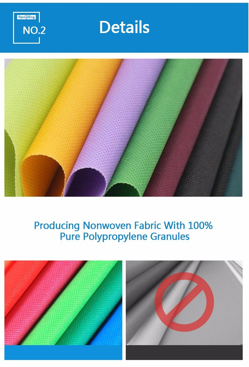 laminated non woven fabric manufacturer with spunbond OEM non woven fabric bags Nanqixing