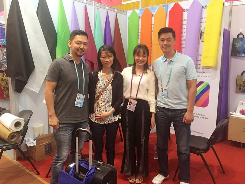 Clients from Brazil visiting our booth on Canton Fair