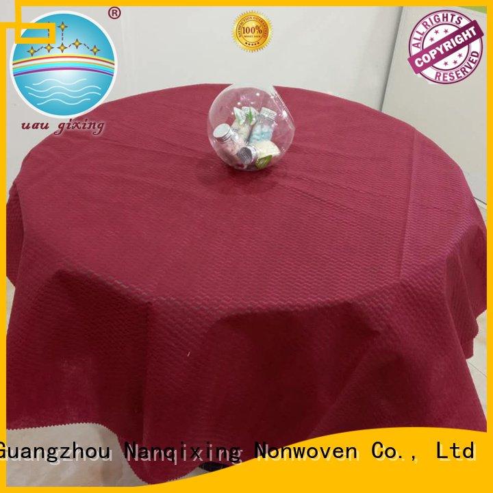 Custom non woven tablecloth sizes cloth nonwoven Nanqixing