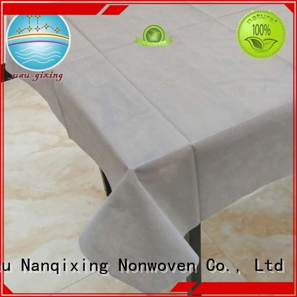spunbond table sizes Nanqixing Brand non woven tablecloth supplier