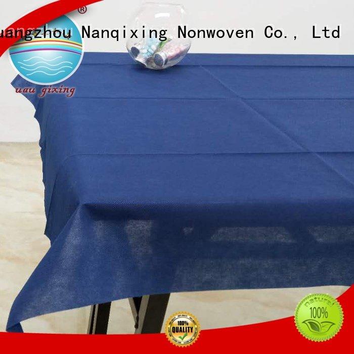 Custom non woven tablecloth fabric colours style Nanqixing