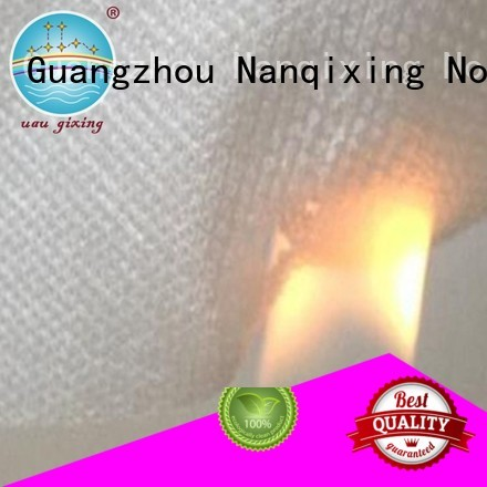 Nanqixing Brand upholstery spunbonded nonwoven custom non woven fabric products