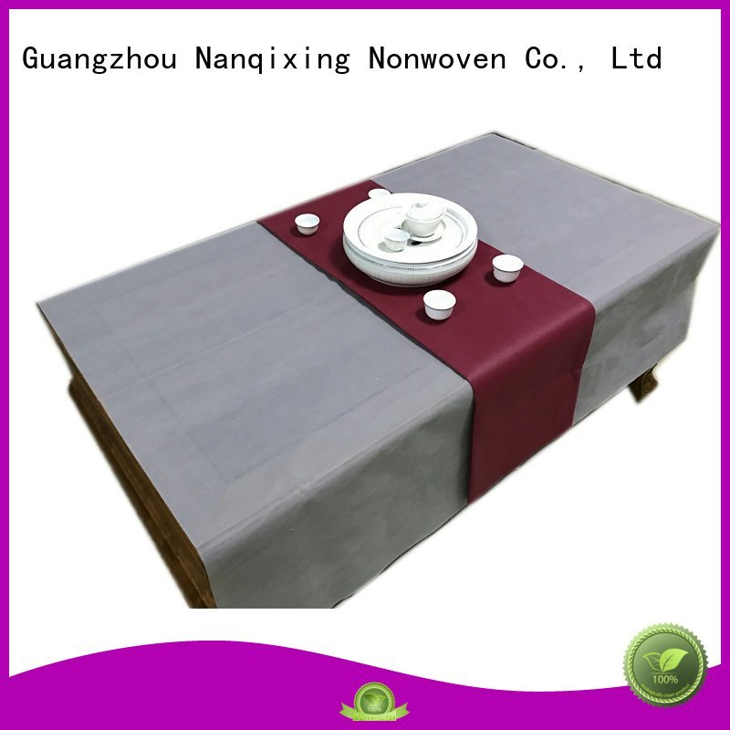 non woven fabric for sale sizes patterns Nanqixing Brand non woven tablecloth