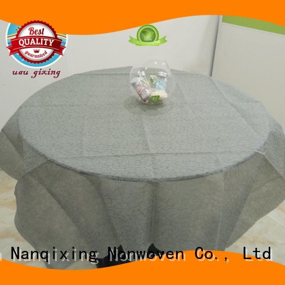 sizes perforated non woven tablecloth customized Nanqixing
