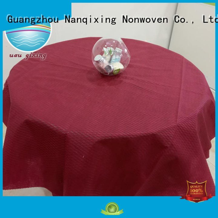 OEM non woven tablecloth hotels disposable non woven fabric for sale