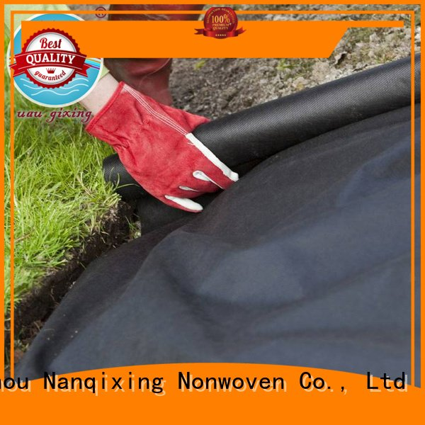 greenhouse treated black spunbond Nanqixing best weed control fabric