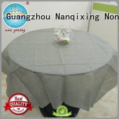 tnt table cloth non woven fabric for sale pp non woven tablecloth Nanqixing Brand restaurants