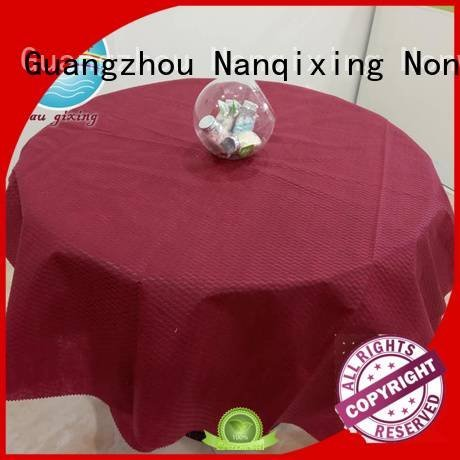 hotels perforated Nanqixing non woven tablecloth