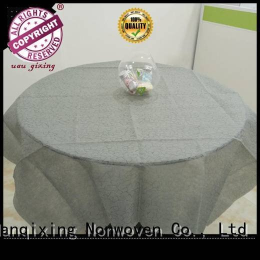 non woven fabric for sale restaurants disposable non woven tablecloth Nanqixing Brand